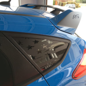 Focus Flag Window Decals 2012-2018 Ford Focus RS ST