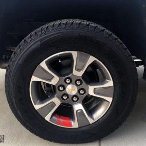 Wheel Stripes Redline Edition Style – 2015-2018 Chevy Colorado
