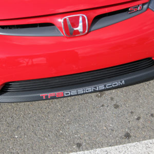 Carbon Fiber Decal Kit for HFP Front Spoiler 06-08 Civic Coupe