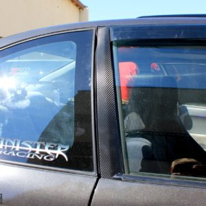 Carbon Fiber Door Pillar Decals 1992-1995 Honda Civic Coupe EJ