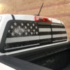Chevy Colorado rear window decal with distressed American flag
