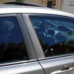 Carbon Fiber Door Pillar Decals 2006-11 Honda Civic Sedan FA FA5