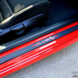 Carbon Fiber Door Sill Overlays 2006-2011 Honda Civic Coupe FG FG2