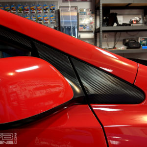Carbon Fiber Triangle & Mirror Decals 06-11 Honda Civic Coupe FG FG2