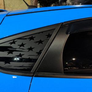 3M Carbon Fiber Door Pillar Decals 2012-18 Ford Focus ST RS