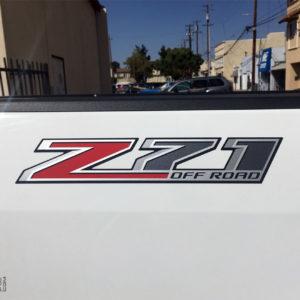 Z71 Off Road Bed Side Decals 2015+ Chevrolet Colorado Silverado