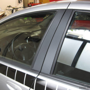 Carbon Fiber Door Pillar Overlays 2003-2005 Dodge Neon SRT-4