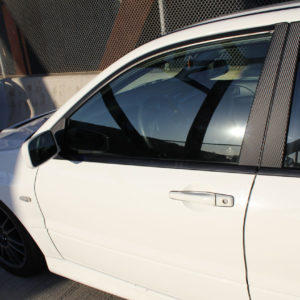 Carbon Fiber Door Pillar Overlays 2003-2006 Mitsubishi EVO 8 / 9