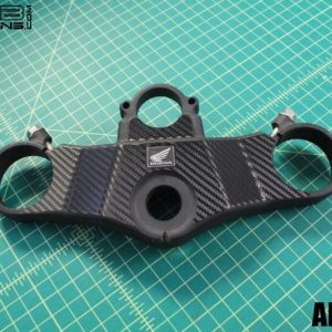 Triple Clamp Decal for the 2003-2004 Honda CBR954RR Carbon Fiber Look