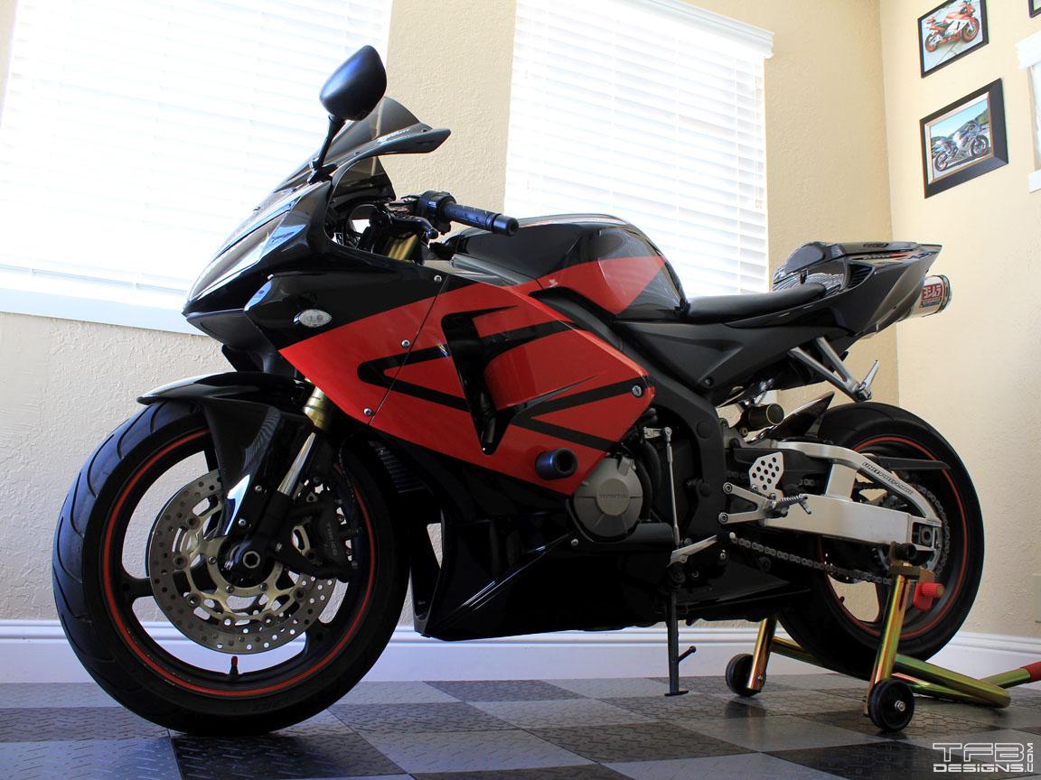 Full Wing Graphics Kit Fits The 2005 2006 Honda Cbr600rr 600rr