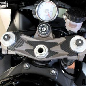 Carbon Fiber Triple Clamp Decal 07-08 Kawasaki ZX-6R ZX6R 600