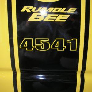 Build Number Decals – fits Over Dodge Rumble Bee Stripes