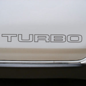 Replacement TURBO Door Decals- fits the Nissan 300ZX (x2 Decals)