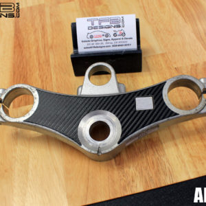 Carbon Fiber Triple Clamp Decal 1998-2001 Honda VFR800 VFR 800