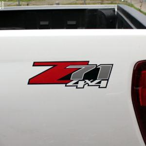 Z71 4×4 Bed Side Decals – Chevrolet Colorado / Silverado x2