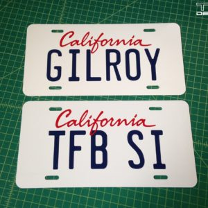 License Plates & Frames Archives - TFB Designs