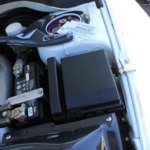 Carbon Fiber Fuse Box Decals- Mitsubishi Evolution EVO 8 / EVO 9