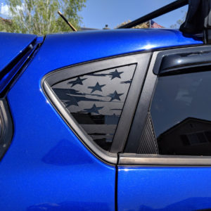 American Flag Rear Window Decals 2013-18 Ford Fiesta ST