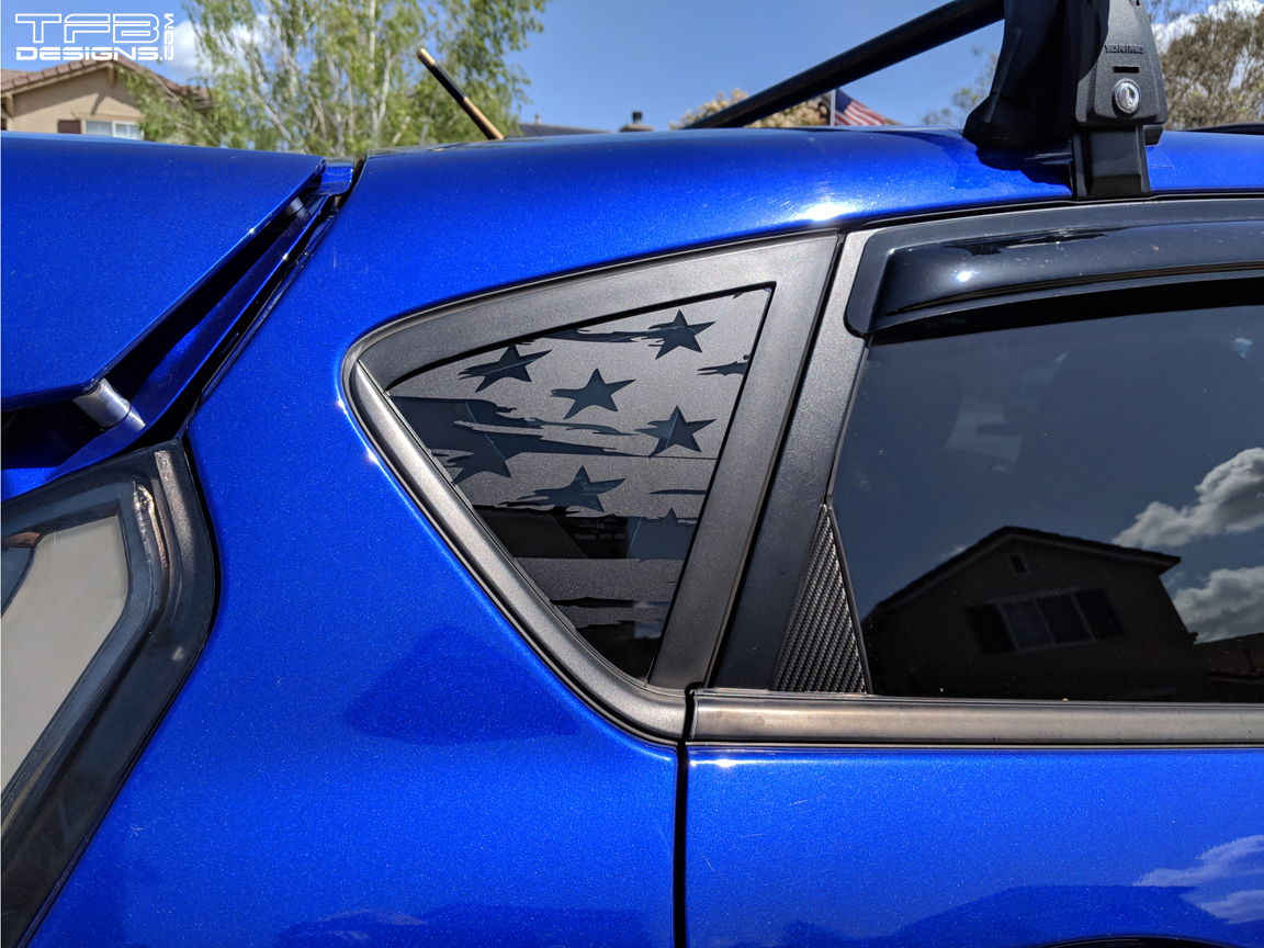 Fiesta St For Sale >> American Flag Rear Window Decals 2013-18 Ford Fiesta ST ...