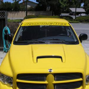 Windshield Banner – fits Dodge Ram / Rumble Bee / Daytona