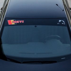 Windshield Banner with MKVI Logo 2010-2014 Volkswagen GTI / Golf