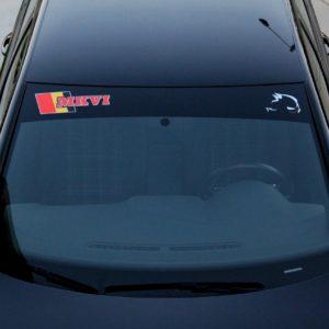 Windshield Banner with MKVI Logo 2010-2014 Volkswagen GTI / Golf