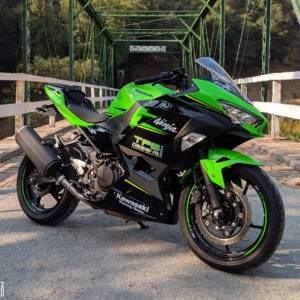 Blackout Fairing Decals for the 2018 Kawasaki Ninja 400 KRT