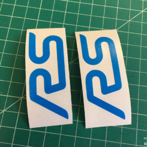 Emblem Inlay Decals -fits RS Logos on Ford Focus RS Rear Spoiler