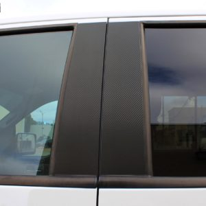 Carbon Fiber Door Pillar Decals 2009-2014 Ford F150 / Raptor Crew Cab