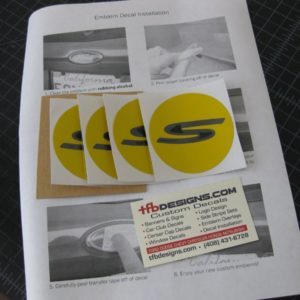 Wheel Center Cap Decals – fits Honda S2000 Wheel Caps AP1 AP2
