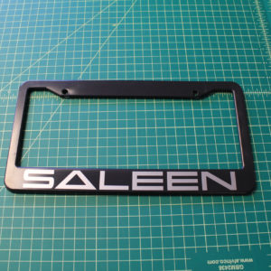 Custom License Plate Frame – Your Choice of Lettering & Color!