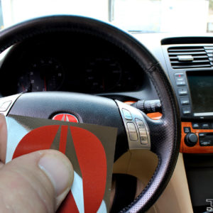 Steering Wheel Emblem Decal fits 2002-2008 Acura RSX / TSX