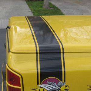 Tonneau Cover Stripes – fits Dodge Rumble Bee – Black or Yellow