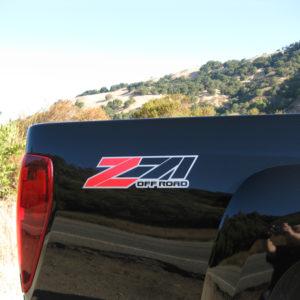 Z71 Off Road Decals -GMC Canyon Chevy Colorado Silverado Tahoe