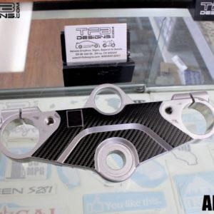 Carbon Fiber Triple Clamp Decal 1998-2003 Suzuki GSX 600F Katana