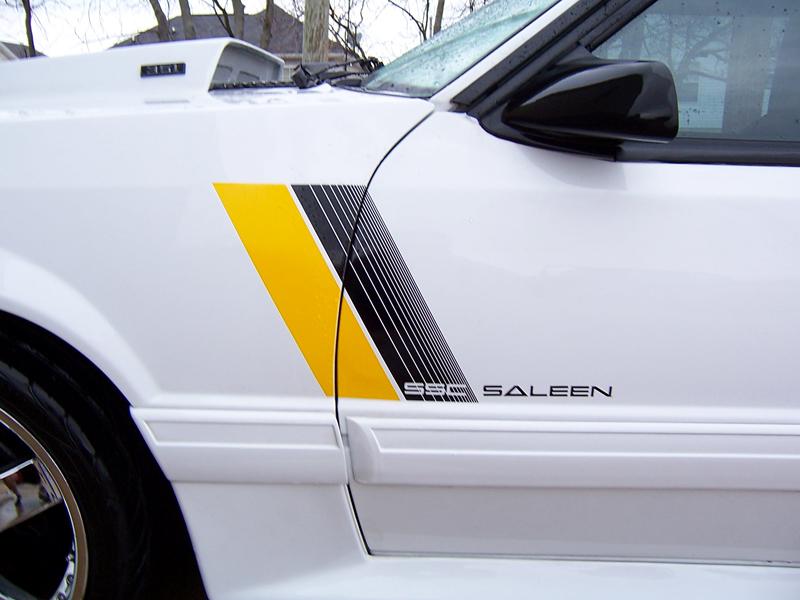 Saleen Ssc Style Door Decals Fits Ford Mustang Fox Body