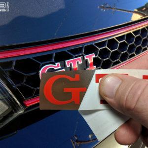 Color Changing Emblem Decals – fits Badges on 2010-2016 VW GTI