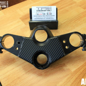 Carbon Fiber Triple Clamp Decal 89-2007 Kawasaki Ninja 500 EX500