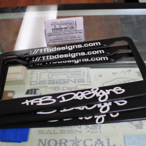 TFB Designs License Plate Frame – Many Logo Colors