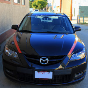 Hood Stripes – 2004-2009 Mazda 3 / Mazdaspeed 3 Hatchback 04-09