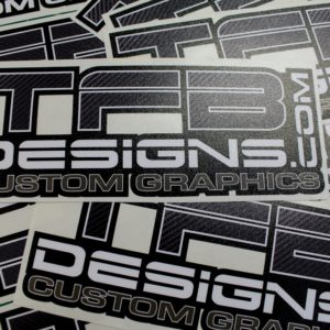 TFB Designs Carbon Fiber Vinyl Decal – 6″ Wide – High Quality
