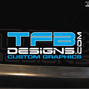 TFB Designs Full Color Vinyl Decal – 6″ Wide, Many Colors