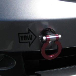 Front Tow Hook Vinyl Decal with Arrow – fits Honda Acura BMW All