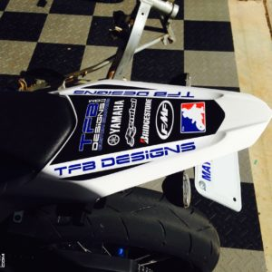 Rear Fender Decal fits the 2008-2015 Yamaha WR250R WR250X