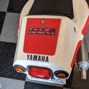 Trunk Lid Warning Decal 1987-1992 Yamaha YSR50 YSR80 YSR 50 80