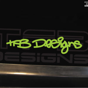TFB Designs Signature Decal- 6 Inches Colors -Vinyl Sticker