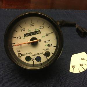 Speedometer Decal – 80MPH for 1987-1992 Yamaha YSR50 87-92 YSR 50