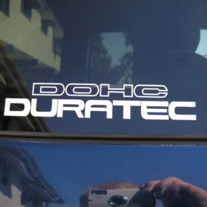 Duratec DOHC Decal – fits Ford Focus – 6 Inch Long Many Colors