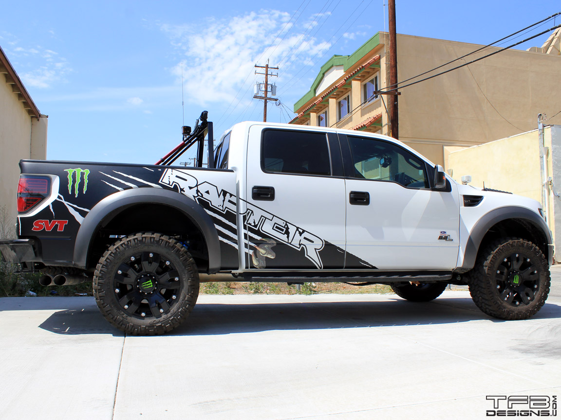 TFB Designs graphics kit for the Ford Raptor SVT