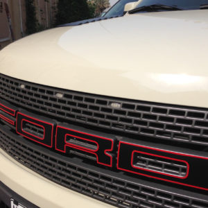 Outlined Front Grill Lettering Decals fits 2010-2014 Ford Raptor